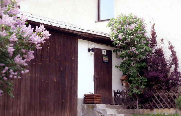 Blühender Flieder beim Eingang zum Hof der Gutenbrunners in St. Leonhard bei Freistadt