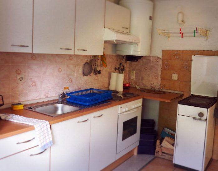 Küche der Ferienwohnung Gutenbrunner