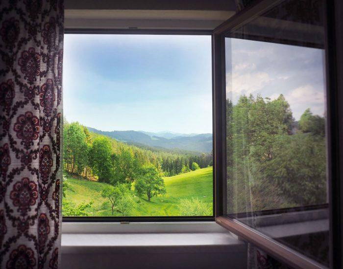 Aussicht aus dem zweiten Schlafzimmer der Ferienwohnung