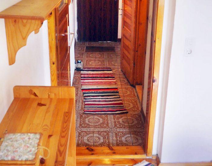 Eingang der Ferienwohnung Gutenbrunner vom Hochbett aus gesehen